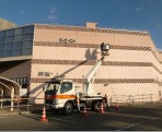 青木島ショッピングパーク 外壁クリーニング工事